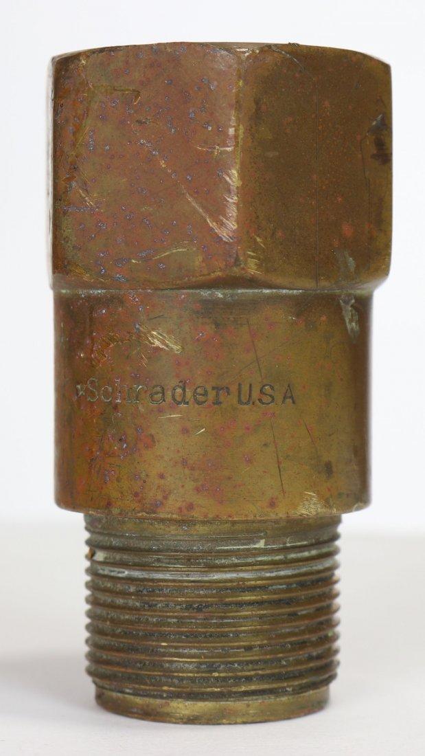 WWII Schrader Non-Return Valve US Navy Stamp Mark V