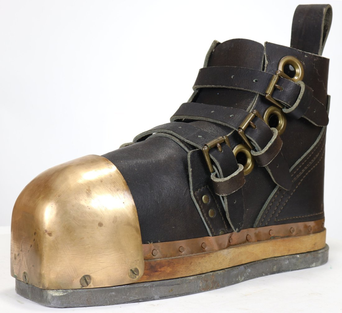 New Old Stock US Navy Mark V Leather, Brass & Lead Boot