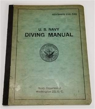 United States Navy Diving Manual October 1956