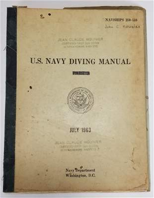 United States Navy Diving Manual July 1963