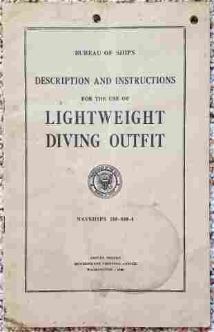 US Navy Lightweight Diving Outfit Manual 1945