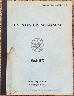 United States Navy Diving Manual March 1970