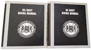 United States Navy Diving Manual 2 Volumes 1980