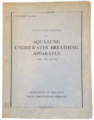 United States Navy Aqua-Lung Underwater Breather Manual