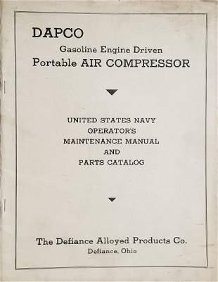 US Navy Operators Manual - DAPCO Diving Air Compressor