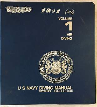 US Navy Diving Manal 2 Vol Air & Mixed Gas Diving 1978
