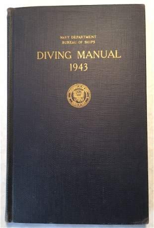 US Navy Diving Manual Rare Hardbound 1943 Edition