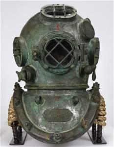 1943 Schrader US Navy Mark V Diving Helmet - Navy Stamp