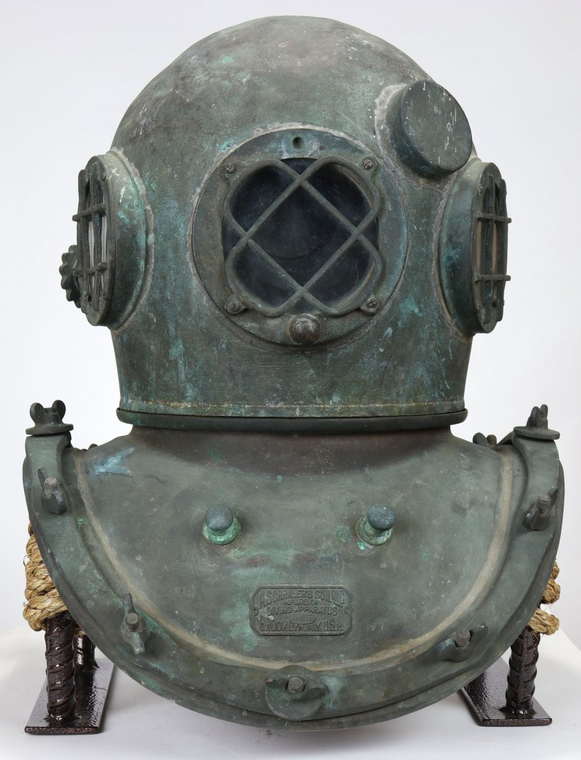 A Schraders Son 1940s Diving Helmet w/ Great History
