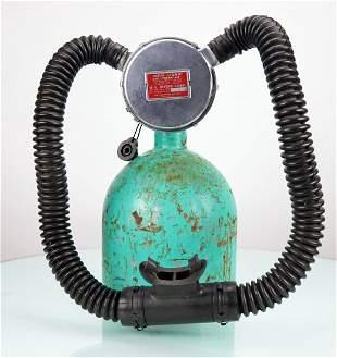 US Divers Stream Air 1950s Double Hose Regulator