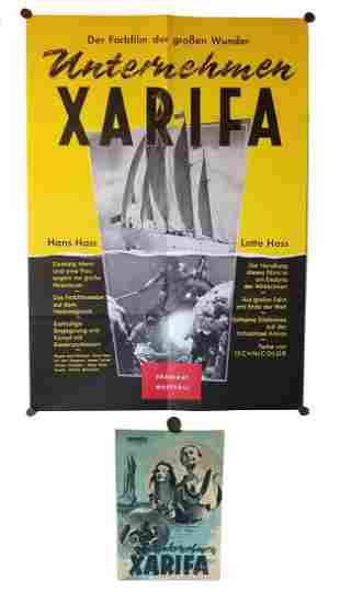 Hans Hass Under The Caribbean German Poster & Program