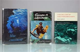 3 Vintage Diving Books, Blue Continent + More