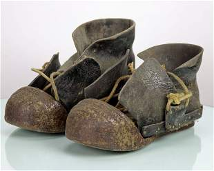 Cast Iron Diving Boots 1800s Toe Cast With Foundry Name
