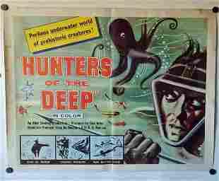 Original 1955 Hunters Of The Deep Movie Poster