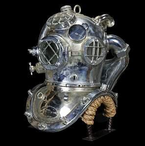 1945 US Navy Mark V Helium DESCO Diving Helmet