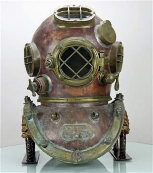 1942 Schrader US Navy Mark V Diving Helmet