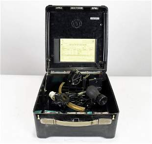C Plath German Ships Micrometer Sextant In Case