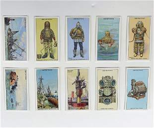 25 English Victoria Gallery Divers Trading Cards
