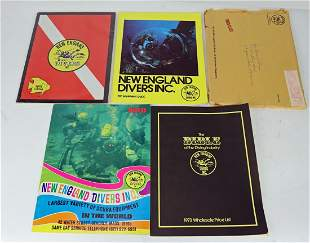 16 Vintage Scuba & Commercial Dive Catalogs & Magazines