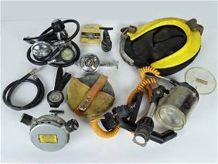 Assortment of Vintage UDT Scuba Divers Equipment