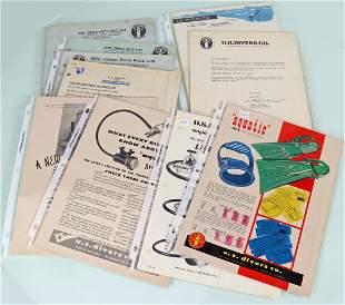US Divers Ephemera 1960s Price Lists, Ads & Letters