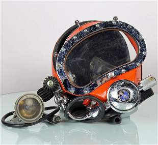 US Divers Kirby Morgan Band Mask Helmet Shell and Light