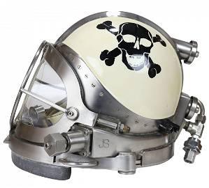 Rare Joe Savoie Mixed Gas Fiberglass Diving Helmet #37