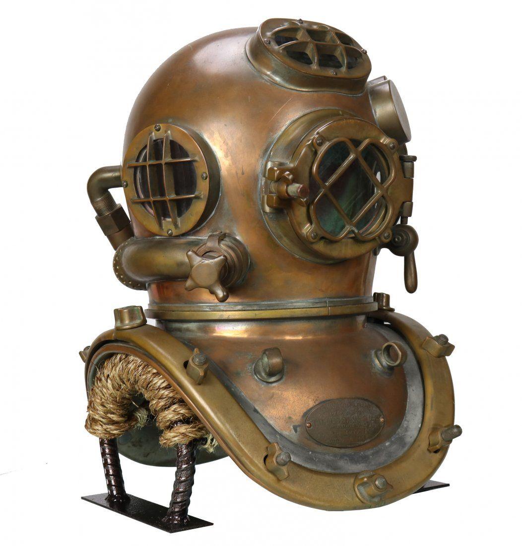 Historic D-Day USN Mark V Diving Helmet DESCO 6-6-1944