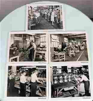 5 Original WW2 Newspaper Photos Of DESCO Factory