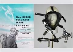 DESCO Jack Browne SAF-T-EYE Dive Mask With Light
