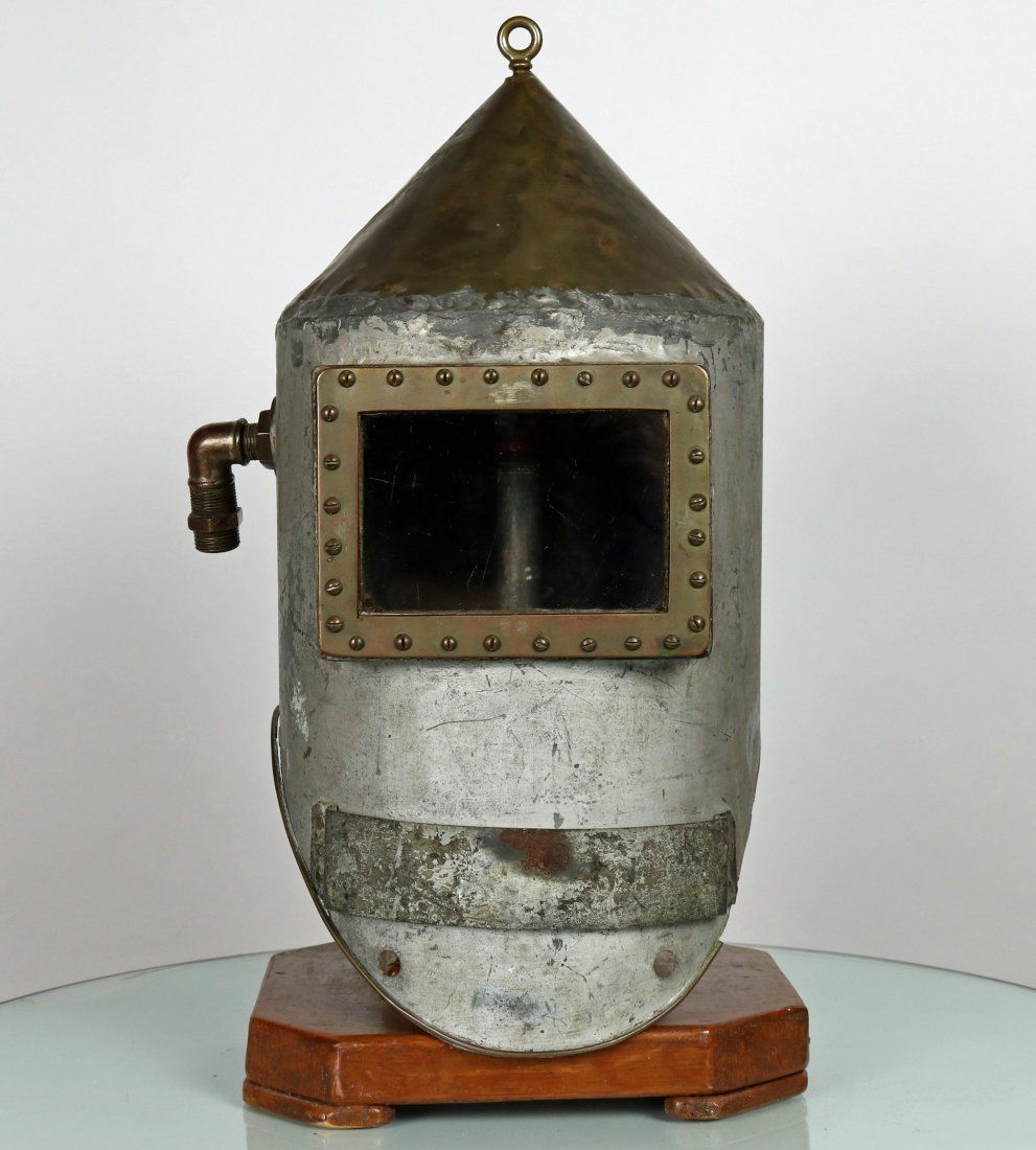 Unique 1930s Homemade Shallow Water Diving Helmet