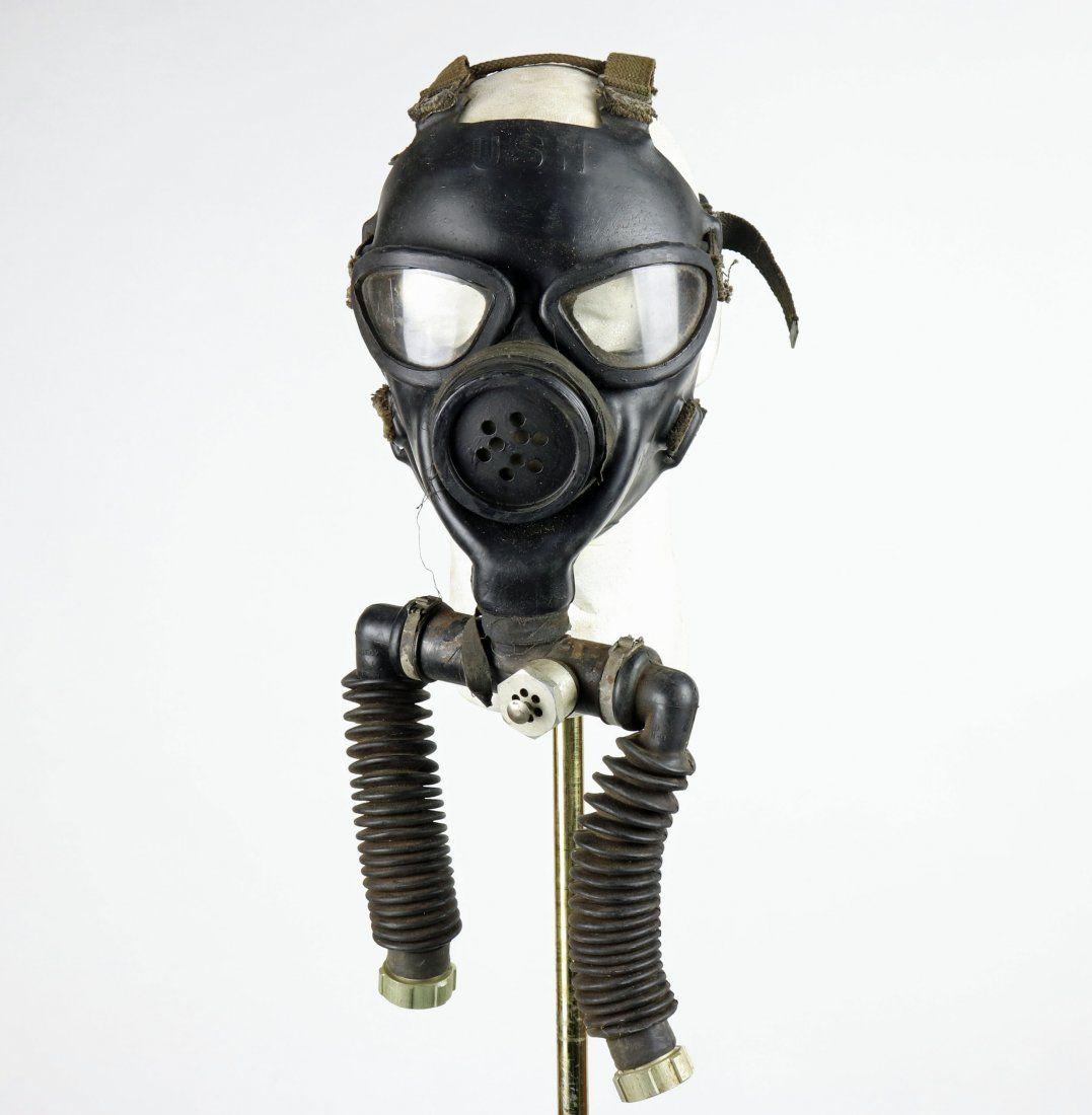 USN Diving Mask WWII Bug Eye w/ Form, Pearl Harbor