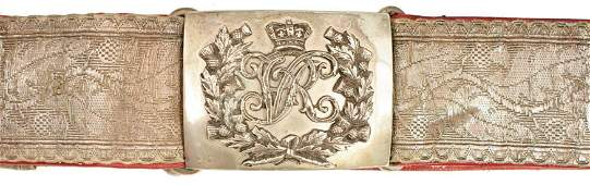 A VICTORIAN SCOTTISH LORD LIEUTENANTS' SWORD BELT AND