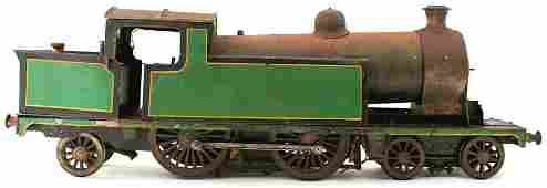 A LARGE LIVE STEAM MODEL LOCOMOTIVE, in green and black