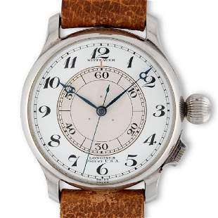 Longines. An unusual oversized and historically