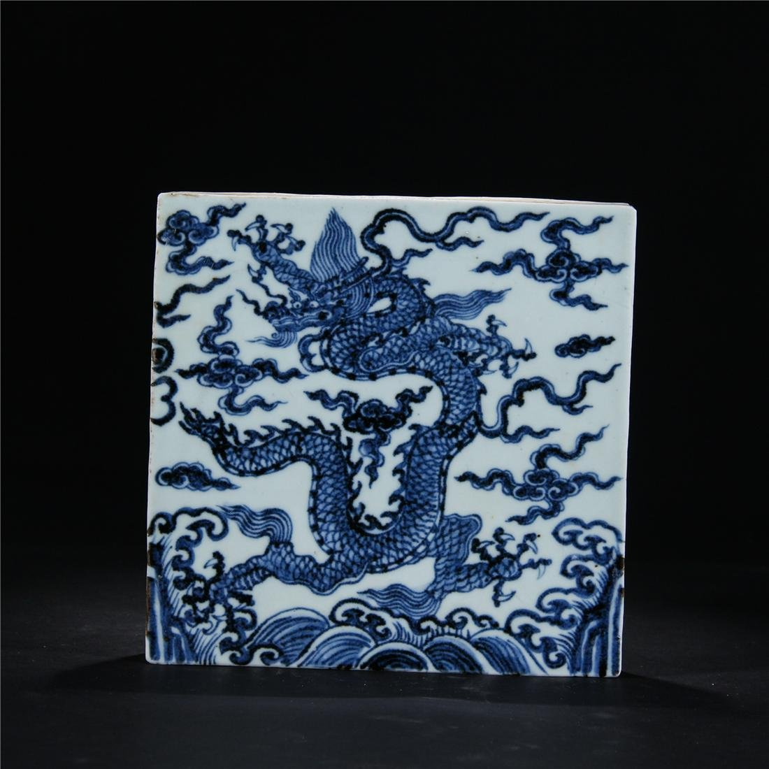 CHINESE BLUE AND WHITE PORCELAIN PAINT DRAGON MOSAIC