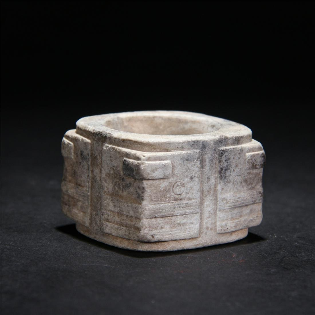 CHINESE CARVED CONG MING DYNASTY
