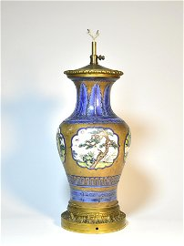 CHINESE YIXING  TABLE LAMP  QING DYANSTY