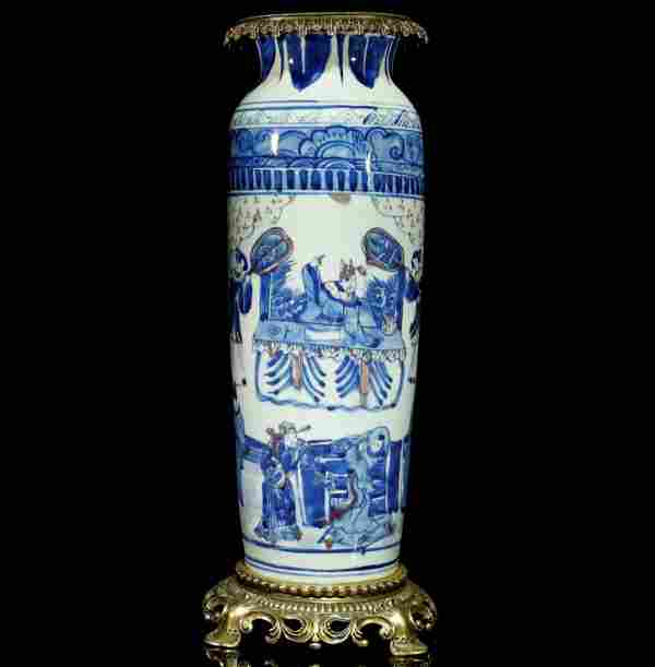 A Gorgeous Blue-and-white Copper-decorated Underglaze