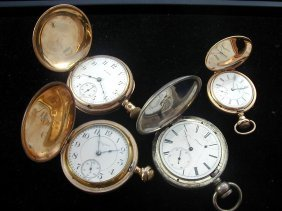 5: 4 Pocket Watches Including Some w/Hunter Cases