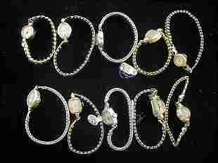 10 Ladies Gold Wrist Watches (Hamilton, Girard)