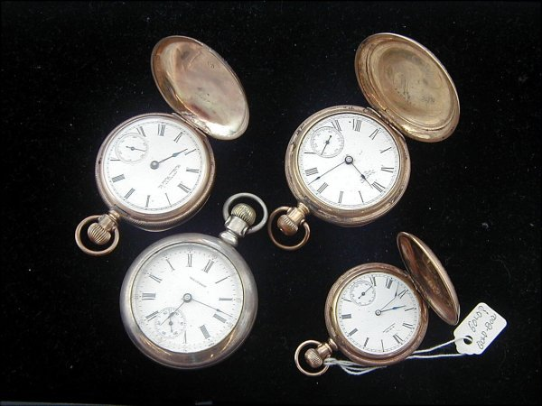 9: 4 Pocket Watches Including Elgin