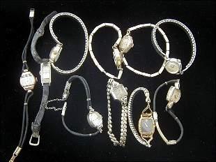 10 Ladies Gold Wrist Watches (Omega, Hamilton)