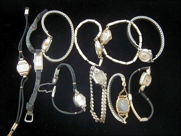 10: 10 Ladies Gold Wrist Watches (Omega, Hamilton)