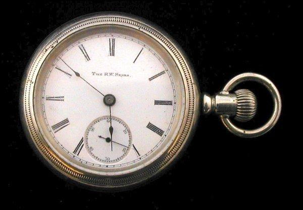 12: Elgin RW Sears Pocket Watch 1886 Serial # 2233258