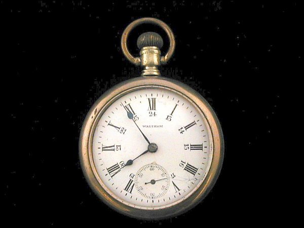 14: Waltham 24 Hour Dial Pocket Watch 1892