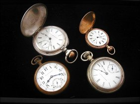 15: 4 Pocket Watches Including, Excelsior