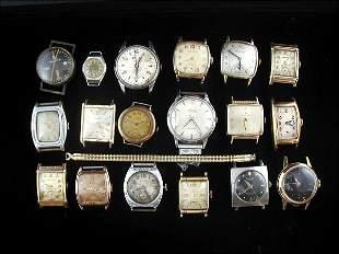 18 Wrist Watch Faces (Gruen, Hamilton, Bulova)