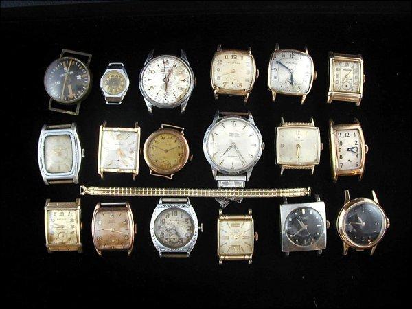 16: 18 Wrist Watch Faces (Gruen, Hamilton, Bulova)