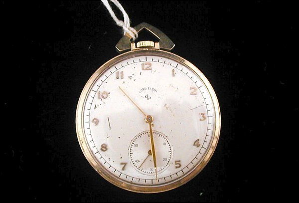 17: Lord Elgin Pocket Watch 21 Jewel 7 Adjustments